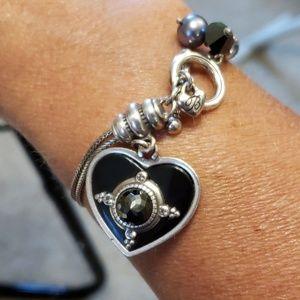 Brighton bracelet with heart charm